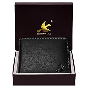 HORNBULL Maddison Men's Black Genuine Leather Wallet