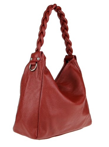 Made Italy, Borsa a tracolla donna Color Bordeaux