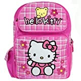 Hello Kitty Large 16 School Backpack Bag...