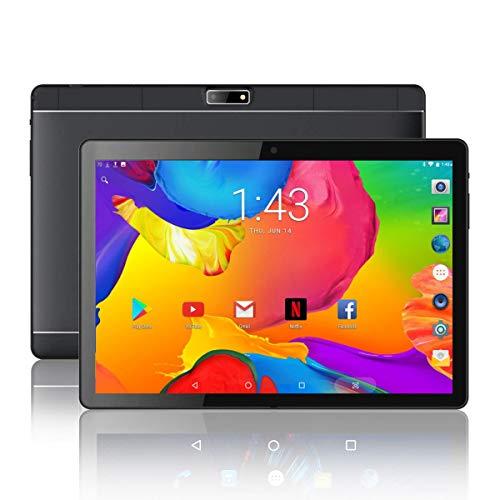 iRULU Tablet 10,1 Zoll Android 6.0 3G Phablet Media Pad mit Dual SIM Kartensteckplätzen und Kamera WiFi Bluetooth GPS Viererkabelkern MTK6580 IPS Anzeige 1280x800 Touchscreen Support Telefonanruf