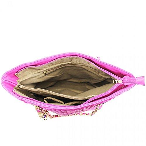 LeahWard® Damen Berühmtheit Stil Schultertaschen Zum Damennett Tragetasche Handtaschen Damen 041624 Groß Rot Tasche (44x13x60cm)