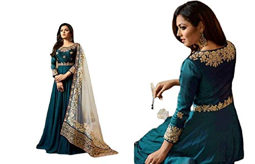 KAMLA FASHION Designer Salwar Kameez Suit Indian Pakistani Bollywood Dress Anarkali Kameez Faux Georgette Saree