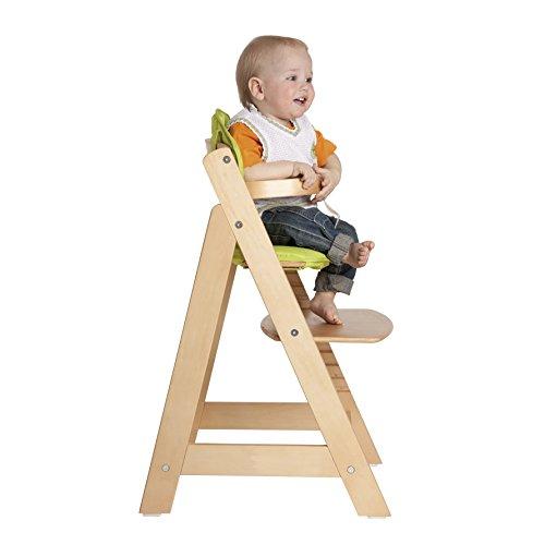 roba Treppenhochstuhl Sit Up III, mitwachsender Hochstuhl vom Babyhochstuhl bis zum Jugendstuhl, Holz, naturfarben - 2