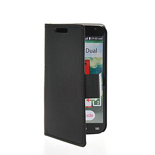 LG L90 Kasten, CaseFirst Wallet Case mit Flip Stand Funktion und Card Slots Magnetverschluss PU Leder Schutzhülle Cover für LG L90 (Schwarz) (Lg L90 Case Folio)