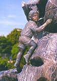 Malte mini Bronzefigur Skulptur aus Bronze echte Handarbeit Gartenskulptur Gartenfigur Garten-Statue