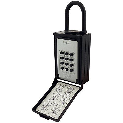 nu-set 2084–3Schlüssel/Karte Speicher Push Button LOCKBOX mit Kombination verriegelndes Schloss, schwarz (Speicher-lock-box-set)