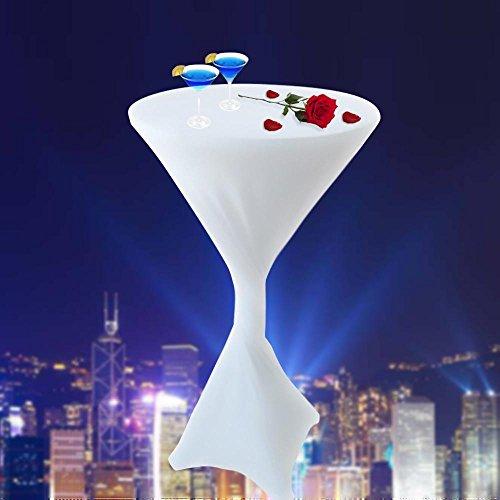 Preisvergleich Produktbild Husse Rund Stretch Cocktail Hochzeit Messe Gala Tischverkleidung L