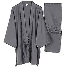 Fancy Pumpkin Trajes de Estilo japonés para Hombre de algodón Puro Kimono Pijama ...