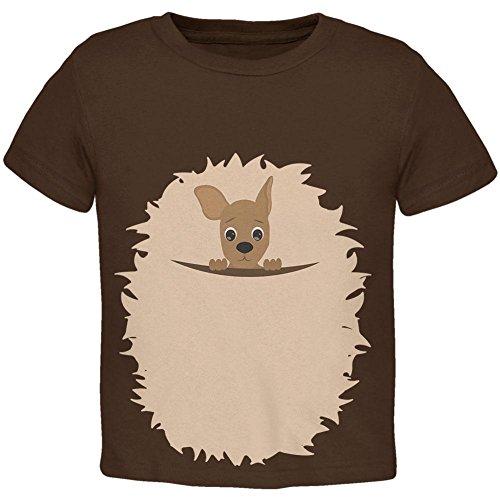 Halloween Känguru Kostüm Kleinkind T Shirt braun 3 (Kleinkind Känguru Kostüm)