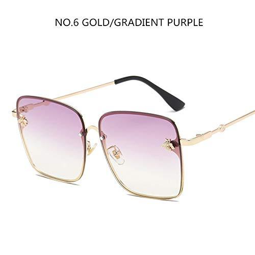 Sonnenbrillen. Übergroße Quadratische Sonnenbrille Männer Frauen Celebrity Sonnenbrille Männlichen Fahren Superstar Luxusmarke Designer Weiblichen Farben Uv400 Reisen Sport Staubdicht Lila