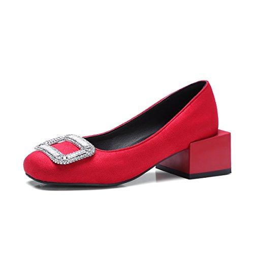 MEI&S Femmes Square Toe Talons Chaussures Bouche Peu Profonde Bloc
