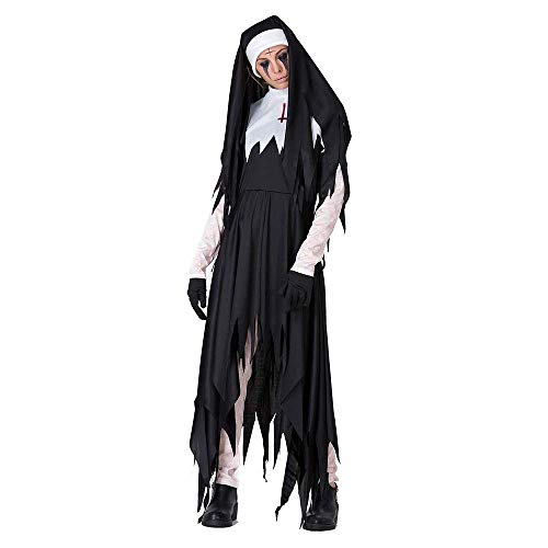 Zombie Rock Kostüm Star - lyf Halloween Horror Adult Nonne Kostüm, Priester Missionar Langer Rock Zombie Maskerade Adult Rave Party Kostüm