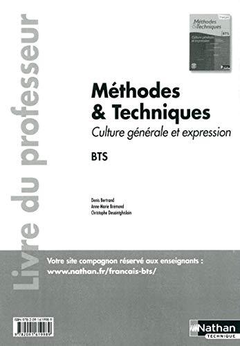 Méthodes et techniques - Culture générale et expression.