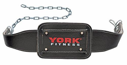 Foto de York Fitness - Cinturón con cadena para musculación, color negro