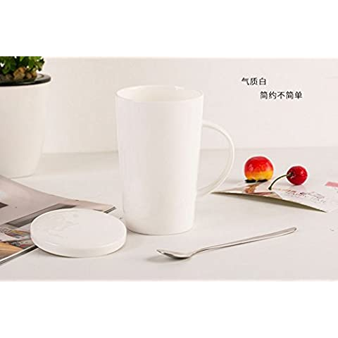 Hueso simple taza de porcelana CUPS CUPS CUPS Oficina creativa cerámica tazas de café bebidas amante tazas