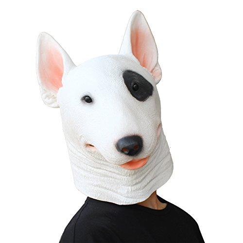 Terrier Maske - Halloween Kostüm Latex Maske Tierische Hund ()