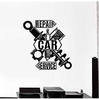 xingzhi Car Wall Decal, Garage Decoration, Car Repair Service Center Decoration Detail Vinyl Sticker 57X57Cm