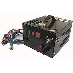 DAVV Compresseur d'air haute pression, Compresseur d'air portable jusqu'à 30 Mpa 12V DC, Noir