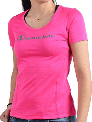 Champion 109405, Maglietta Donna Fuxia fluo