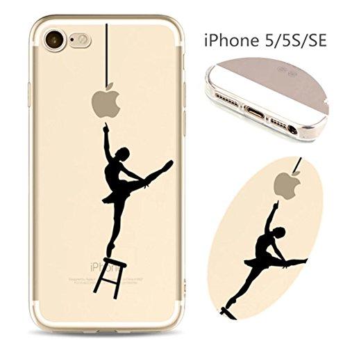 Cover iPhone 6 Plus Custodia telefono creativo trasparente silicone Guscio morbido Anti Graffio Copertura protettiva Anti-polvere paraurti Si applica a iPhone 6/6S Plus(5.5) disegno-21