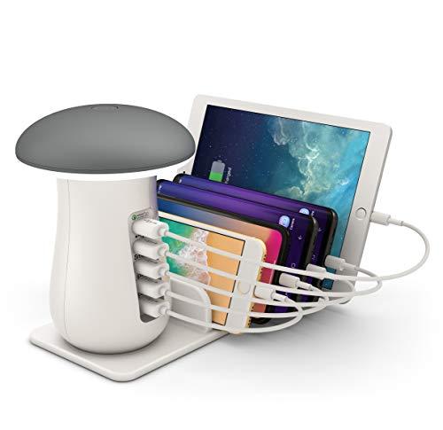 ONLT Lámpara Escritorio LED,Lámpara de Mesa USB regulable Recargable,Control...