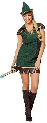 L3202620-48 Damen Robin Hood Kostüm Gr.48 (Kostüm Girl Jäger)