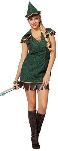 L3202620-48 Damen Robin Hood Kostüm Gr.48