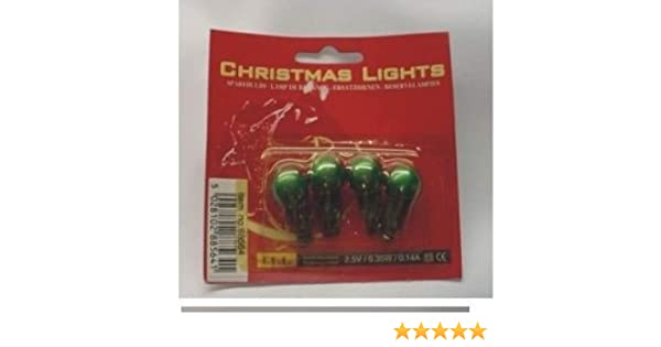 4 Push In Spare Bulbs for 100 Piece Berry Light Set 2.5v 0.35w 0.14a CLEAR S19