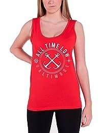 All Time Low Sea Sick Femme nouveau Rouge Skinny Fit Tricot de Corps Top