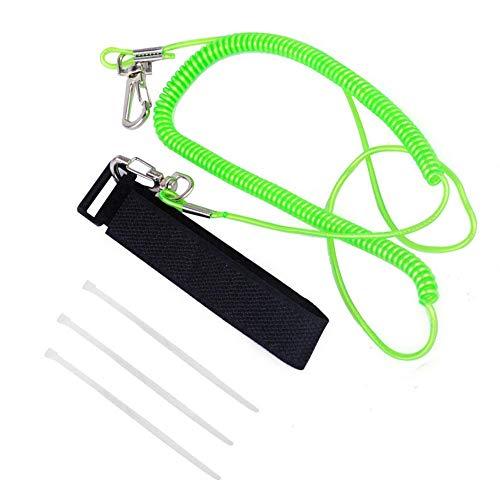 SparY Angelrute Leine, elastisches Paddel, langlebig, zufällige Farbe, Sicherheitsband, Lange Metallhaken, Wassersport, für Kajak, Kanu (Farbe Paddel)
