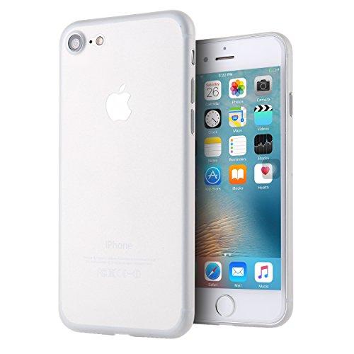 Weiß Handy (LIAMOO® iPhone 7/8 Handyhülle mit Kameraschutz, matt weiß ★ 0,35 mm ★ 4g leicht ★ Passgenau   Ultra dünnes Smartphone Case schützt vor Staub & Kratzern   Handy-Hülle/Bumper für 4,7 Zoll iPhones)