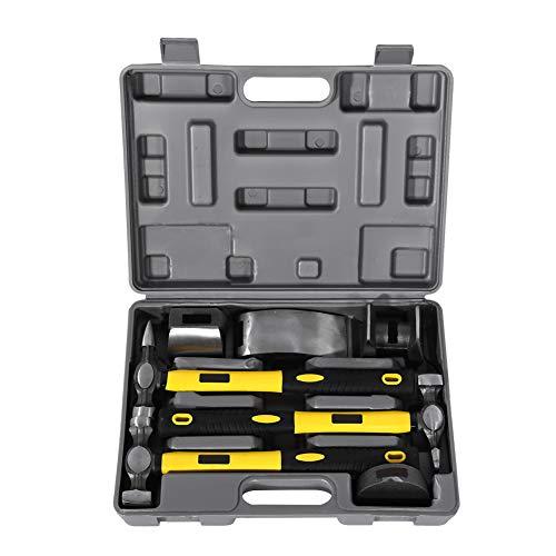 Ebtools - kit di cancellazione della carrozzeria di auto, 7 strumenti di ritaglio per auto, pratico kit di martelli per carrozzeria di auto