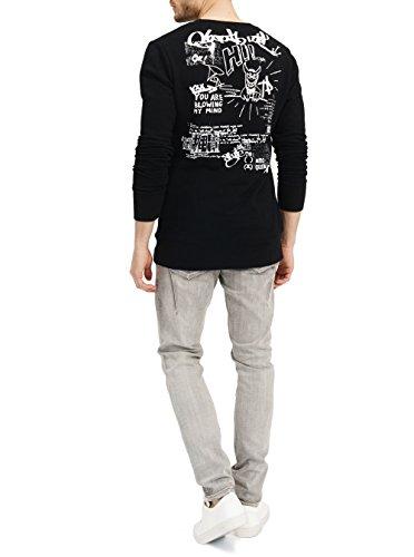 trueprodigy Casual Herren Marken Sweatshirt mit Aufdruck, Oberteil cool und stylisch mit Rundhals (Langarm & Slim Fit), Sweatshirt für Männer in Farbe: Schwarz 2582116-2999 Black