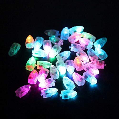 RETYLY 10pcs Kleine LED Lampen Flash Ballon Licht Keine Linien Leuchtende Laterne fuer Latex Luftballons Papierlaternen Weihnachten Hochzeit multicolor Flash-lampe