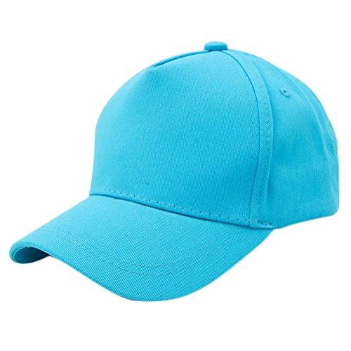 Youkara Chapeau sur toile Chapeau Baseball Chapeau loisirs Chapeau Chapeau de soleil Chapeau de crème solaire pour enfants adjustable bleu
