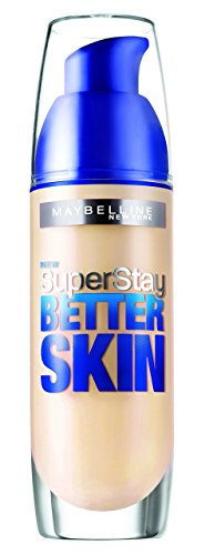 Maybelline Foundation Ivory (Maybelline SuperStay Better Skin Foundation make-up SPF 20 (010 Ivory) 30 ml (woman))