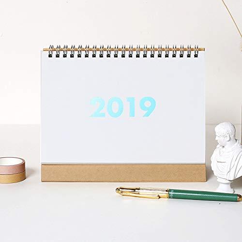 lianji 2019 Kalender Schreibtisch Kalender Büro Home Stand Terminplaner Kalender Approx.25.7x17.5cm White(small) (Stand Kalender)
