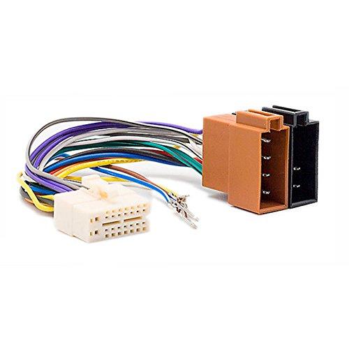 carav 15-102KFZ ISO Geschirr Head Kabel für Clarion ax-; db-; dxz-; mrx-; px-series (Select Modelle) Mikroprozessor (25x 11mm)-> ISO (weiblich) Stereo Radio Kabel Adapter Stecker Verkabelung Ax Serien-radios