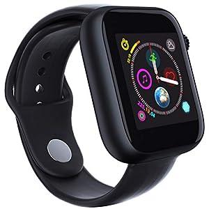 Dkings Bluetooth Smartwatch Fitness Uhr Intelligente Armbanduhr Fitness Tracker Sport Uhr mit Kamera Schrittzähler Schlaftracker Kompatibel mit Android unterstützt Phone-SIM-Karte und Kamera