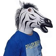 Zebra cavallo Testa maschera in lattice -party Costume di Halloween