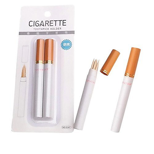 Sujing Zahnstocherhalter, Zigarettenform, Zahnstocherspender, Reise-Set, tragbar
