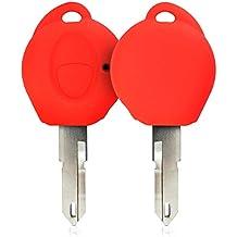 kwmobile Funda de Silicona para Llave de 1 botón para Coche Peugeot - Carcasa Protectora [