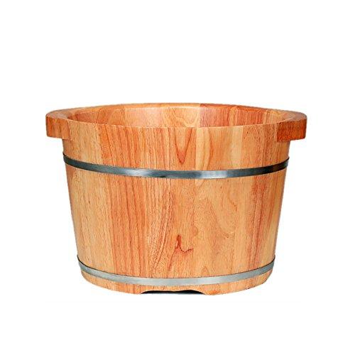 XINFUKL Holz Fuß Badewanne Duschholz Fußbad Barrel Haushaltsgummiholz Fußbad Barrel Fußbad Barrel Fuß Wanne Massivholz,37cm*26cm