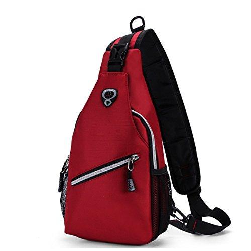 BULAGE Taschen Männer Brusttaschen Leinwand Im Freien Licht Stilvoll Einfarbig Reise Schönheit Lässig Einfach Elegant Atmungsaktiv Pink