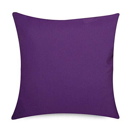 Bean Bag Bazaar Gartenkissen, Violett, 43cm x 43cm, Kissen Wasserabweisend, Textilfaserfüllung–, Dekoratives Zierkissen für Gartenbänke, Stühle oder Sofas