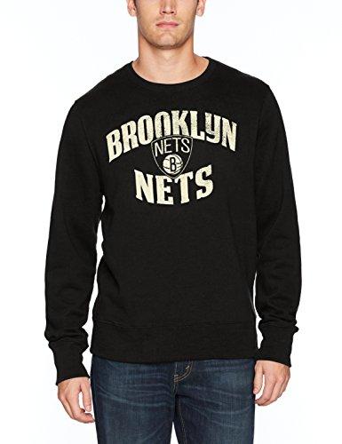 OTS Herren NBA Crew Fleece Distressed, Herren, NBA Men's OTS Fleece Crew Distressed, Jet Black, M Black Collegiate Crew Sweatshirt