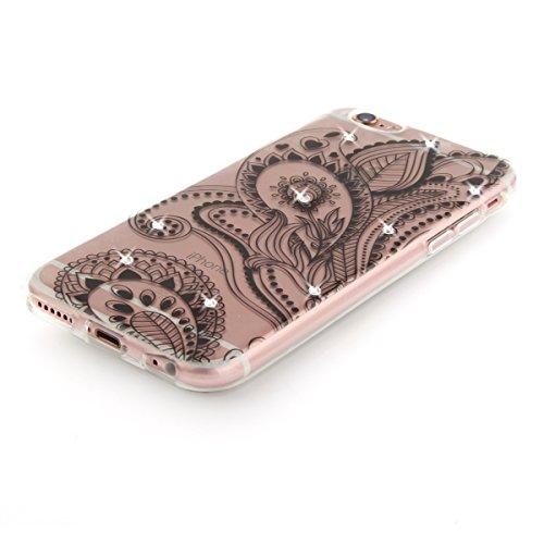 "MOONCASE iPhone 6 Plus/iPhone 6s Plus Coque, [Diamond Painting] Flexible Silicone Bling Housse Ultra Slim Anti-choc Protection Case pour iPhone 6 Plus/iPhone 6s Plus 5.5"" Dandelion Peacock"