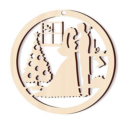 5 Weihnachtsdeko Holzhandwerkhohl Weihnachtsgeschenk Abhängungen Amateur Floh Zubehör -