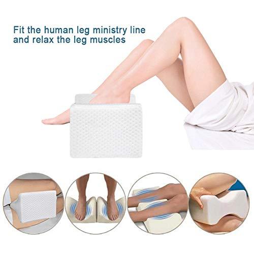 Navigatee Orthopädisches Knie-Stützkissen, Ergonomisches Knie-Stützkissen Für Seitenschläfer, Knie-Kissen Für Bequemes Schlafen, Druckentlastungskissen, Gel-Bein-Kissen Für Schmerzlinderung