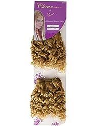 chear Water Wave 2en 1trame Extension de cheveux humains avec de mélange tissage numéro 27, auburn clair 20cm